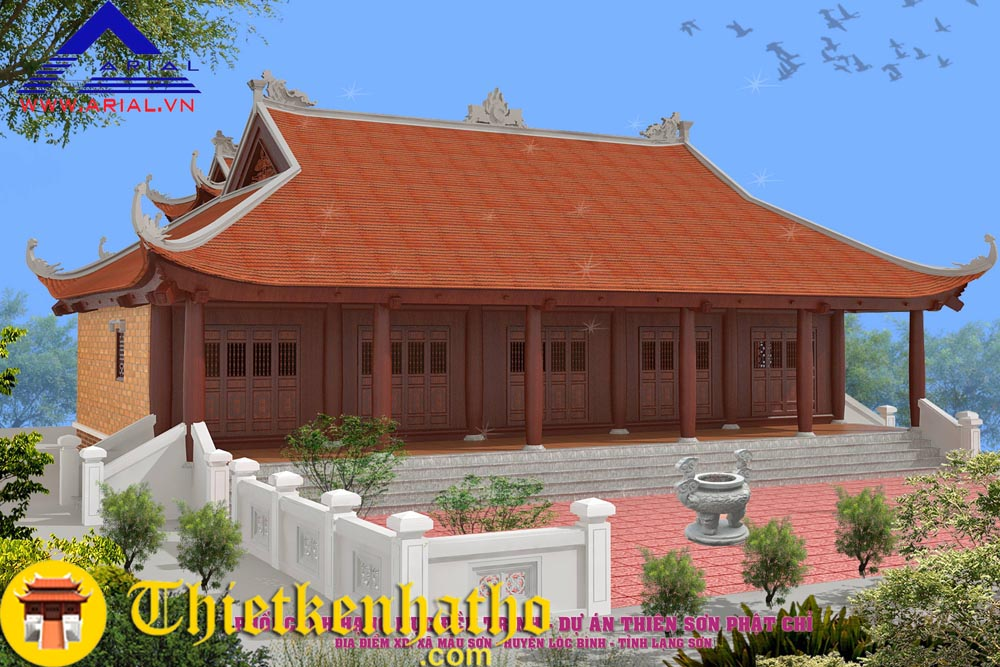 Đền thờ 8 mái ở Lạng Sơn