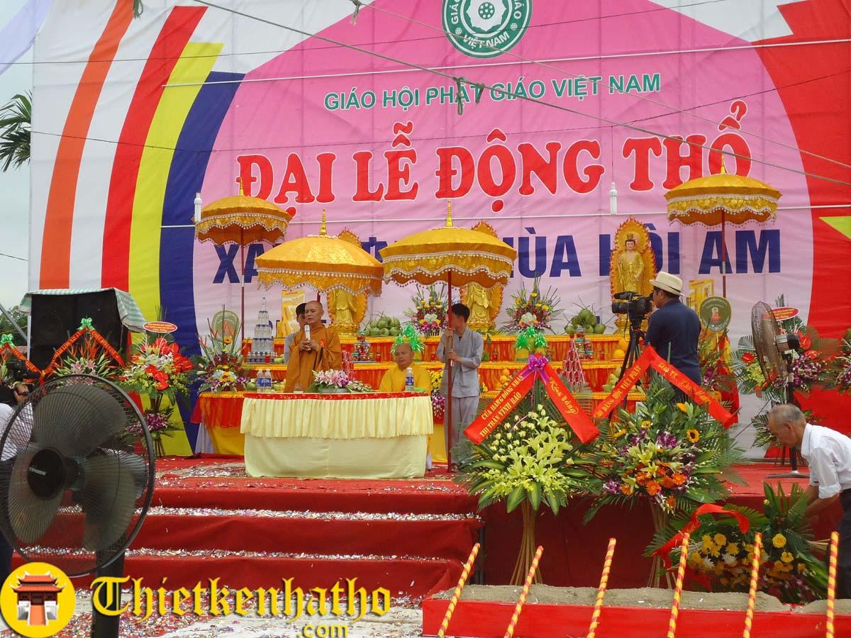 Đại lễ khởi công xây dựng Chùa Hội Am - Vĩnh Bảo - Hải Phòng