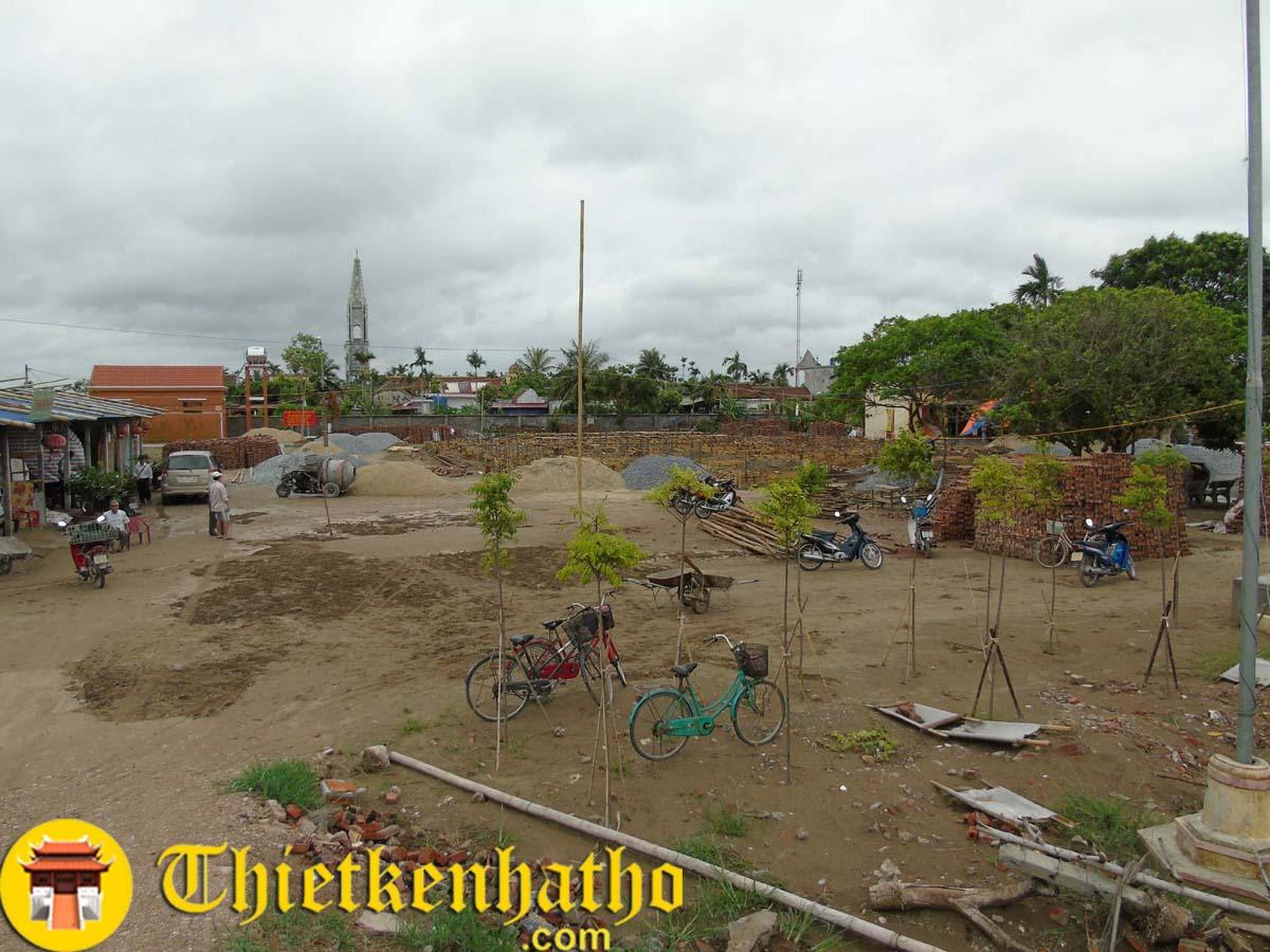 Công trình Chùa Hội Am - Vĩnh Bảo Hải Phòng đang thi công phần đài móng