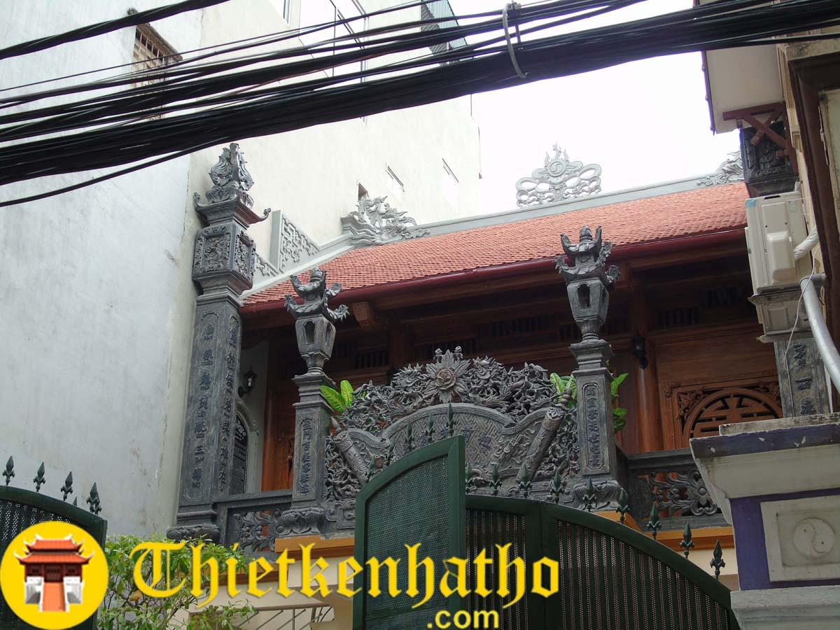 2. Nhà thờ 2 tầng cđt anh Tiến - Giáp Nhị - Hà Nội đã thi công xong