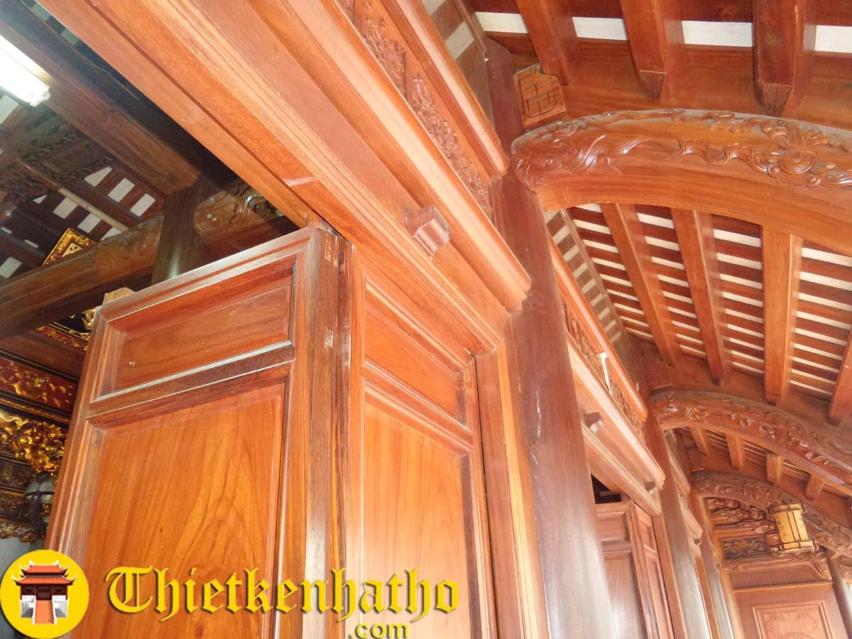 Cửa bức bàn Nhà gỗ 5 gian ở Canh Nậu Thạch Thất Hà Nội