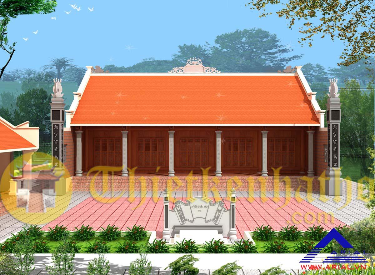 Nhà thờ nhà ở 5 gian cđt anh Chúc - Trực Thái - Trực Ninh - Nam Định