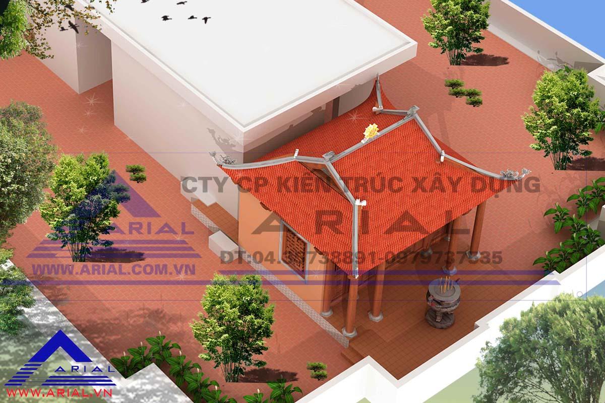 Thiết kế Không gian tâm linh trên mái công trình ở Hà Đông - Hà Nội