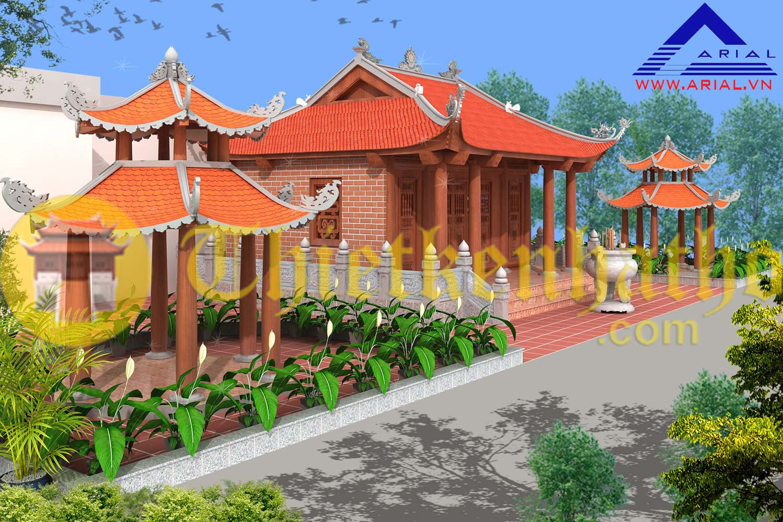 Thiết kế Không gian tâm linh trên mái công trình ở Hoàng Mai - Hà Nội