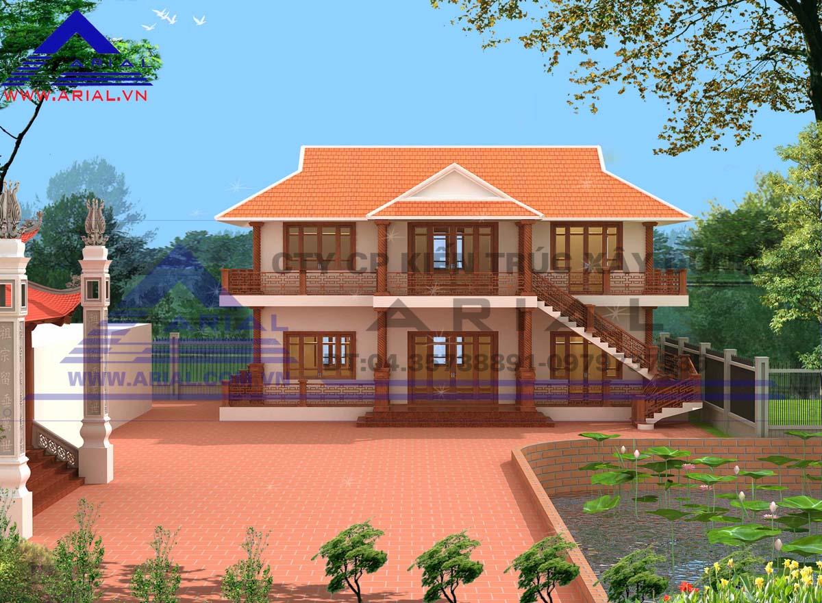 2. Nhà ăn 2 tầng ở quê Nam Long - Nam Trực - Nam Định