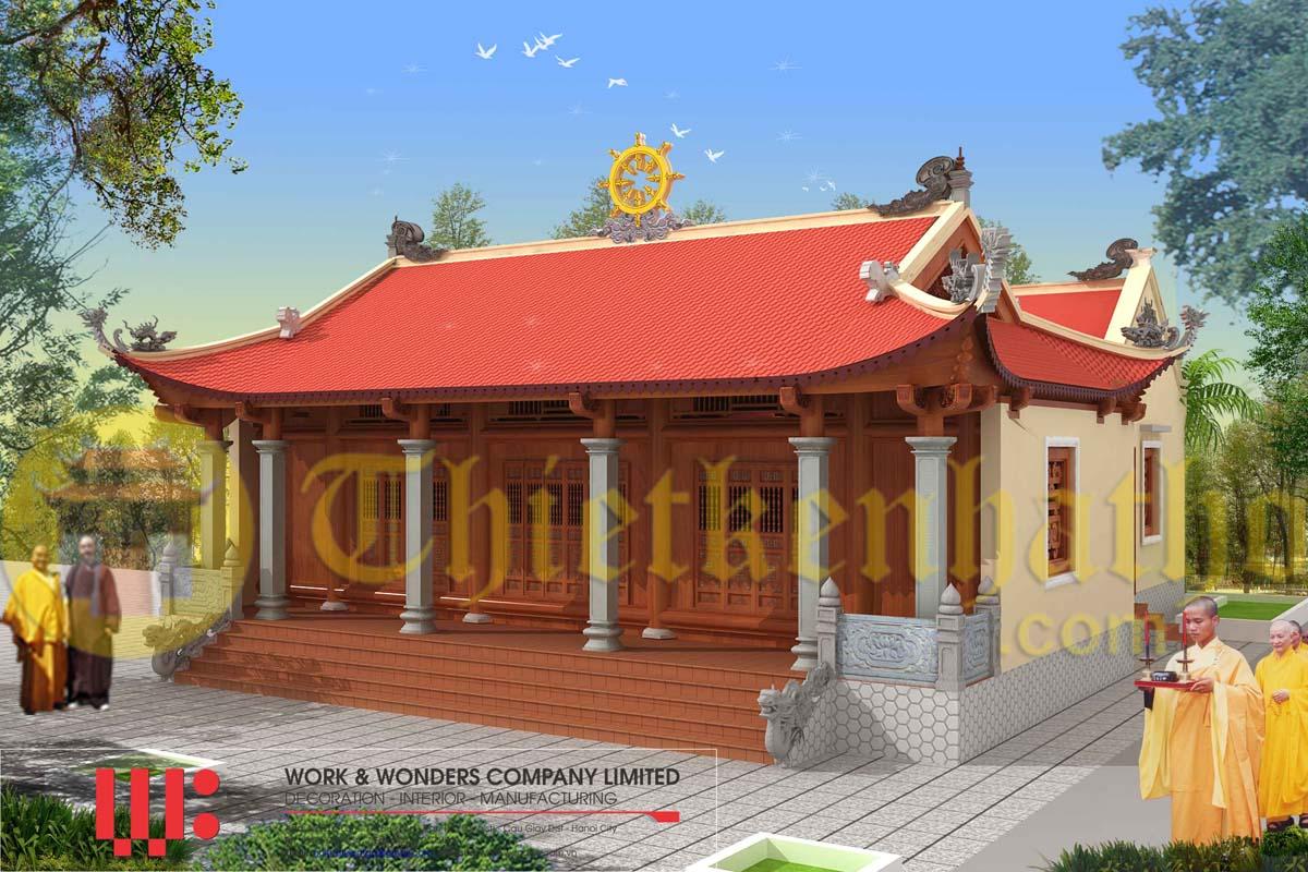 Thiết kế Chùa Thanh Tú - Yên Lạc - Vĩnh Phúc