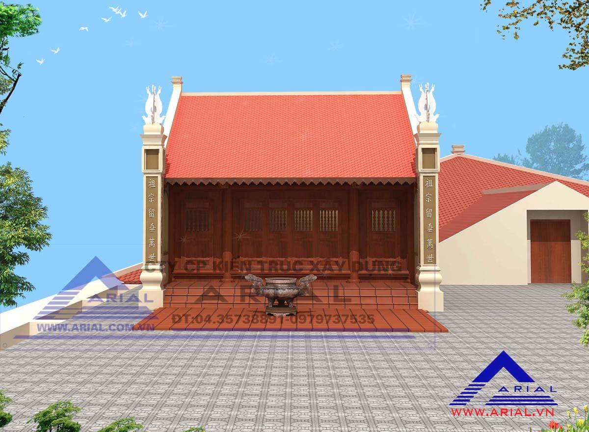 Nhà thờ Bác Hồ trên mái nhà làm việc ở Hà Nội