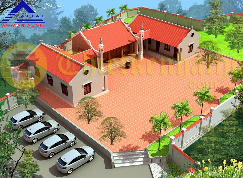 Nhà thờ , nhà bếp và nhà ở cđt anh Công - Công Sơn - Gia Bình - Bắc Ninh