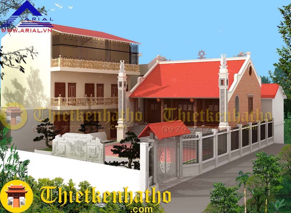 Nhà thờ 2 mái 9 bậc Cđt a Tuấn - Ứng Hòa - Hà Nội