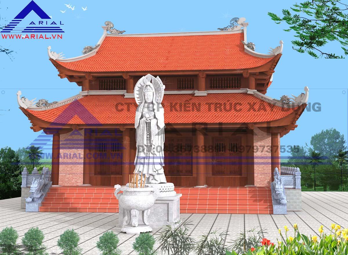 Nhà thờ gỗ 8 mái cđt ông Mão Thiệt xây dựng ở Đông Hưng - Thái Bình