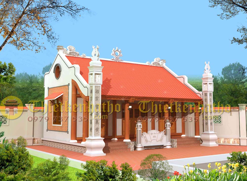 Nhà thờ 2 mái cđt a Dũng - Hải Phòng
