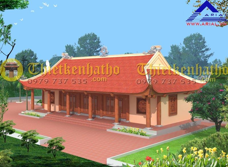 11. Nhà khách Chùa Văn Lâm Vũ Thư Thái Bình