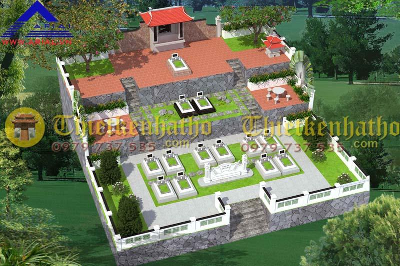 Thiết kế khu mộ kt 15mx15m