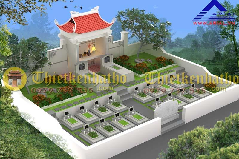 Thiết kế khu mộ kt 10mx6m