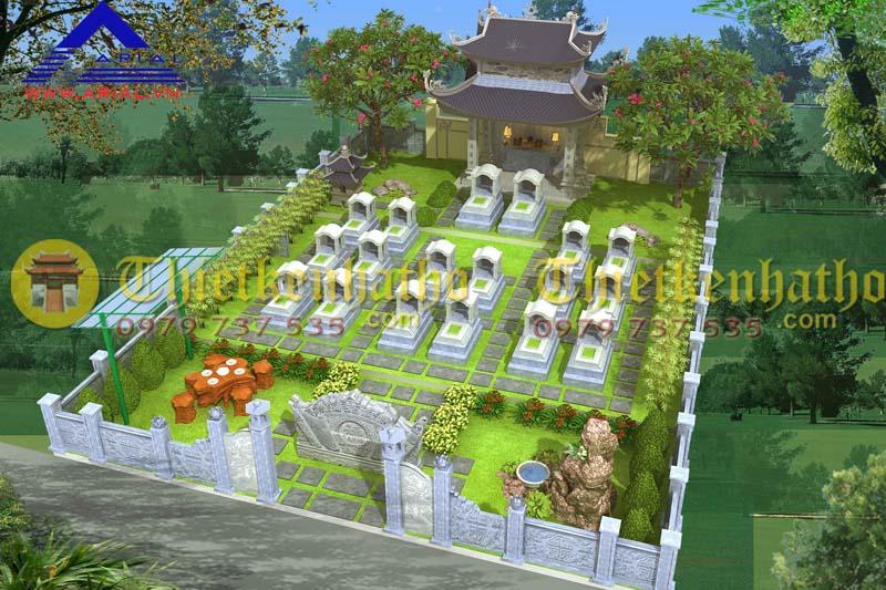 10. Thiết kế khu mộ kt 11mx15m