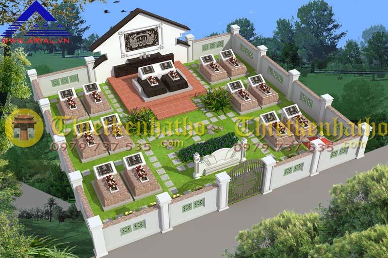 Thiết kế khu mộ kt 8mx9m