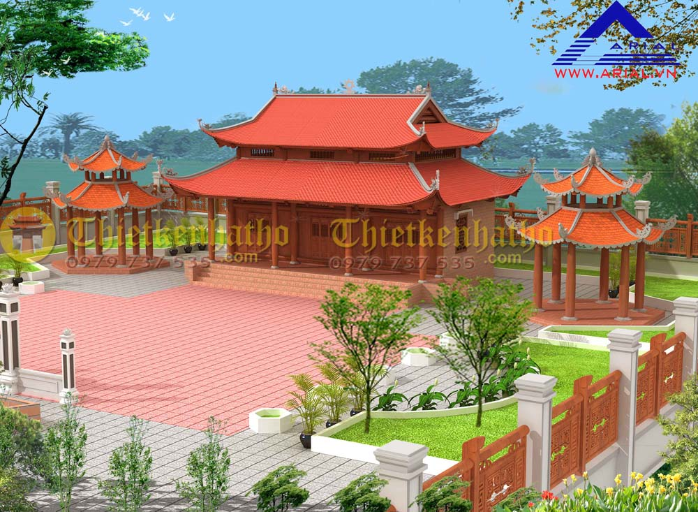 Nhà thờ 3 gian 8 mái ở Thạch Hà - Hà Tĩnh