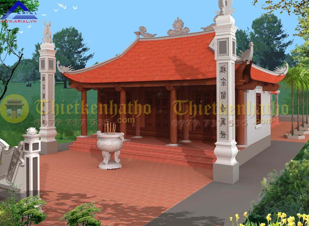 Nhà thờ 3 gian 4 mái ở Nông Cống Thanh Hóa