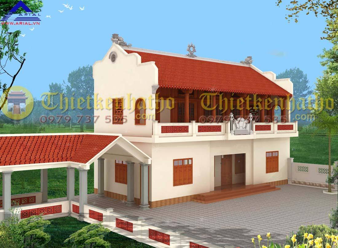 Nhà thờ 2 tầng 2 mái 5 gian ở Gia Lộc - Hải Dương