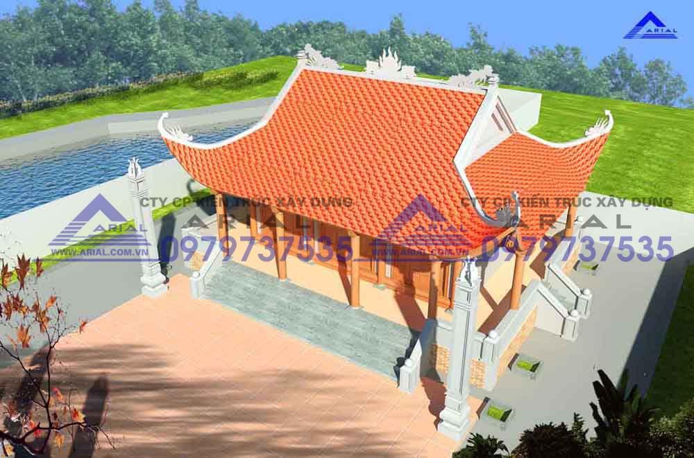 Mẫu số 19: Nhà thờ 4 mái 3 gian 3 hành lang ở Quảng Trị