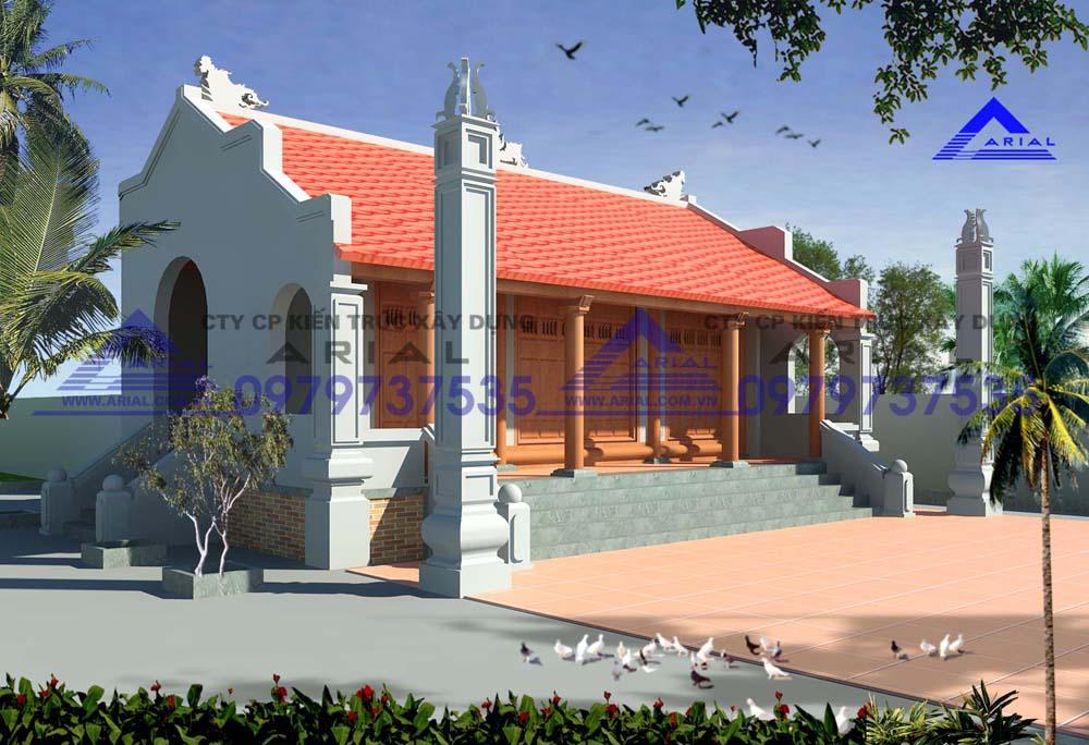 Mẫu số 16: Nhà thờ 2 mái 3 gian 3 hành lang ở Quảng Trị