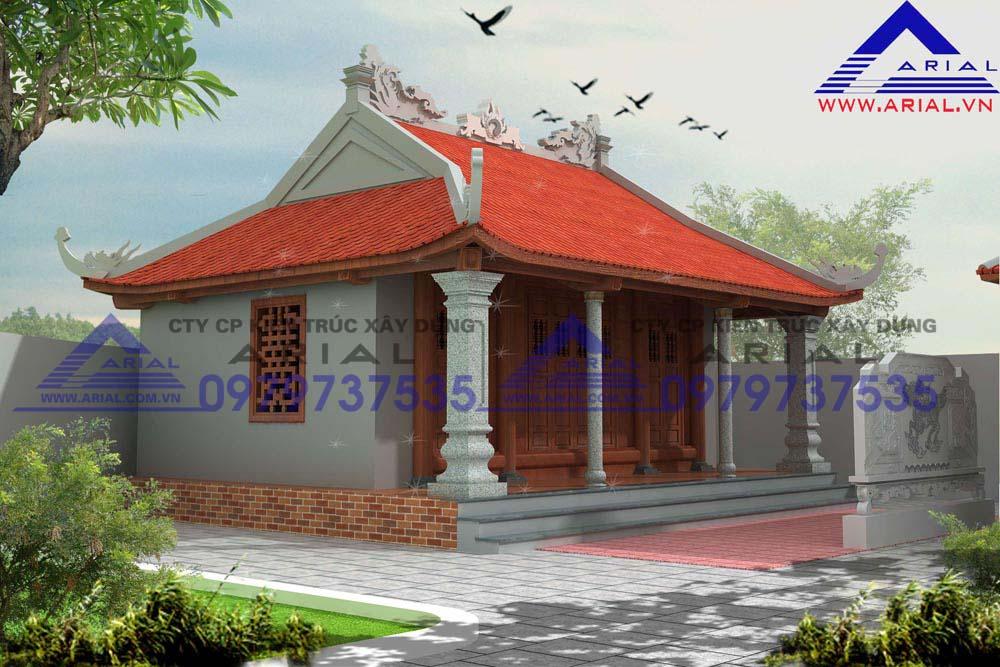 Mẫu số 18: Nhà thờ gỗ 4 mái ở Thanh Chương Nghệ An