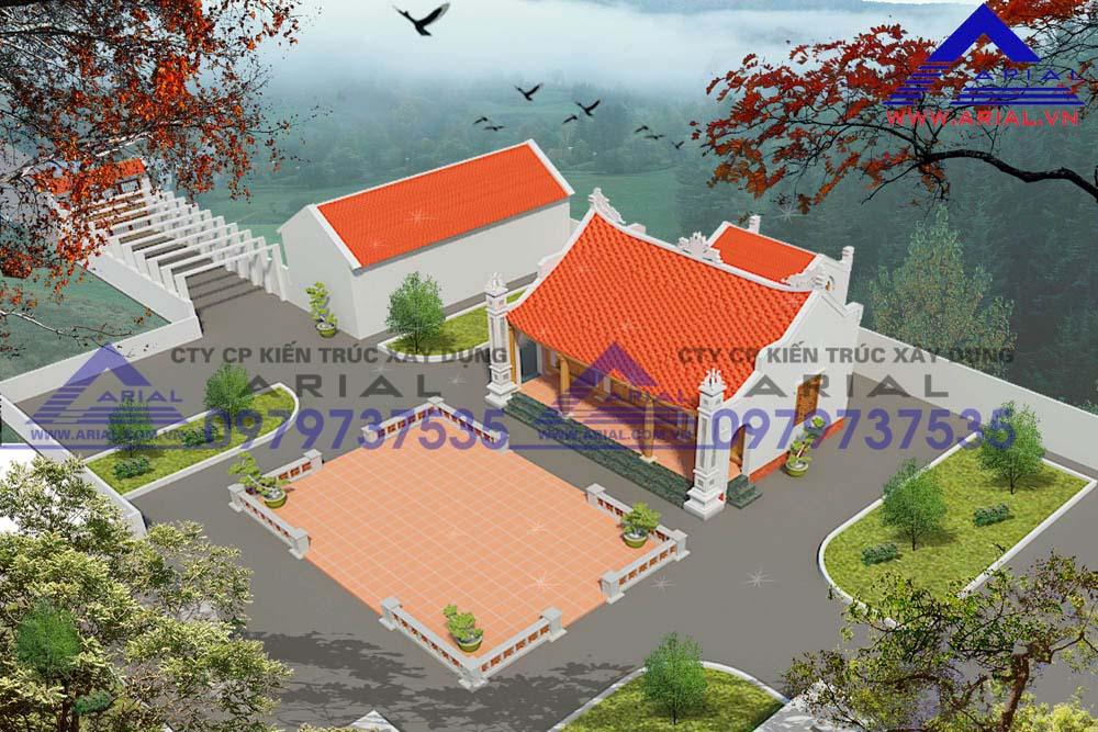 Mẫu số 5: Nhà thờ 2 mái có Hậu cung  cđt chú Cường Lục Ngạn Bắc Giang