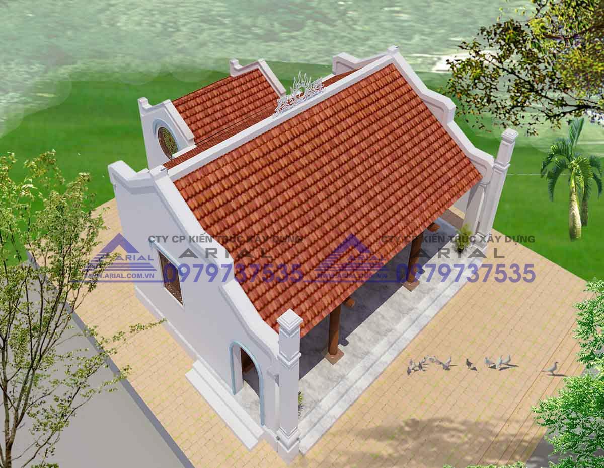 Mẫu số 6: Nhà thờ 2 mái Hậu cung cđt bác Hải Sài Gòn