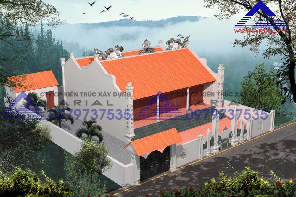Mẫu số 9: Nhà thờ 2 mái 2 cung Tiền tế và Hậu cung 3 gian ở Nam Định