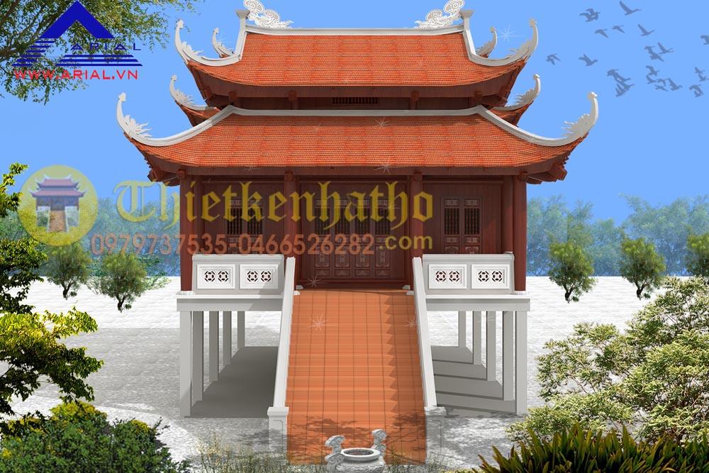 Mẫu số 39: Nhà thờ 2 tầng 2 cung 8 mái 3 gian 2 cung liền nhau ở Nam Định