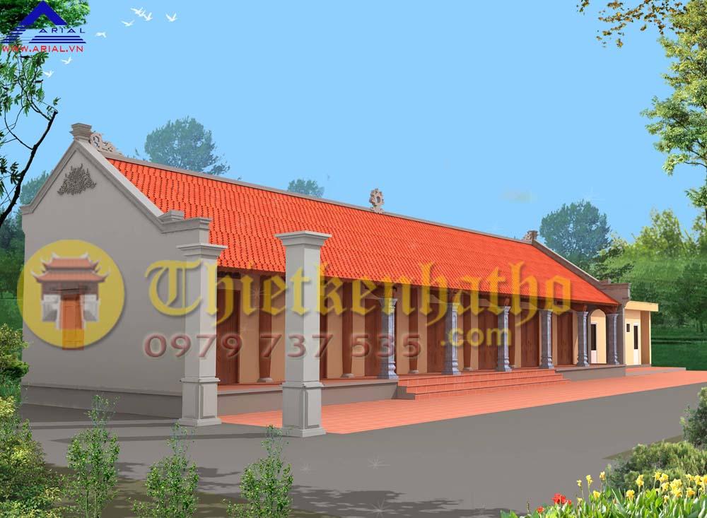 Mẫu số 54: Nhà khách đình làng 7 gian 2 mái ở Ích Vịnh Hà Nội
