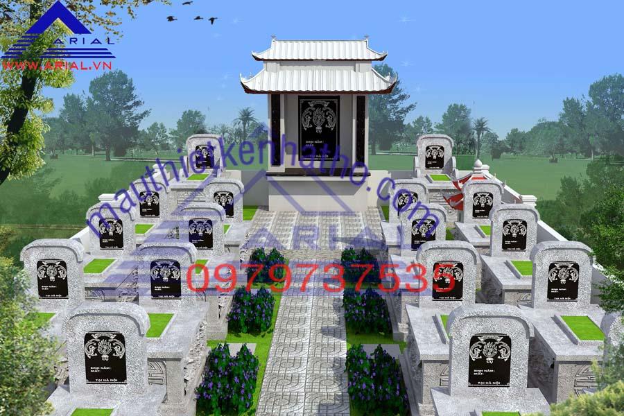 13. Khu mộ đá mỹ nghệ cđt chú Du ở Bắc Giang