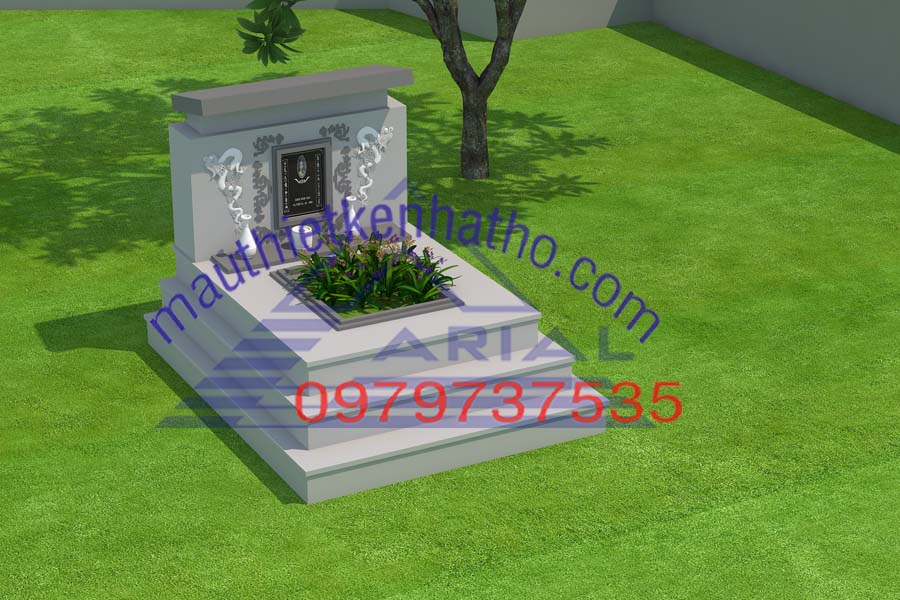 16. Các mẫu mộ đơn, mộ đôi, mộ ba đẹp