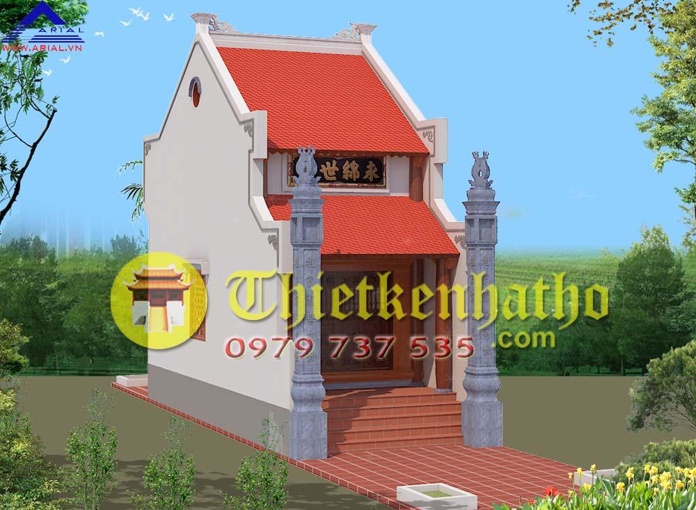 9. Nhà thờ 1 gian 4,1m mái cổ đẳng ở Vinh Nghệ An