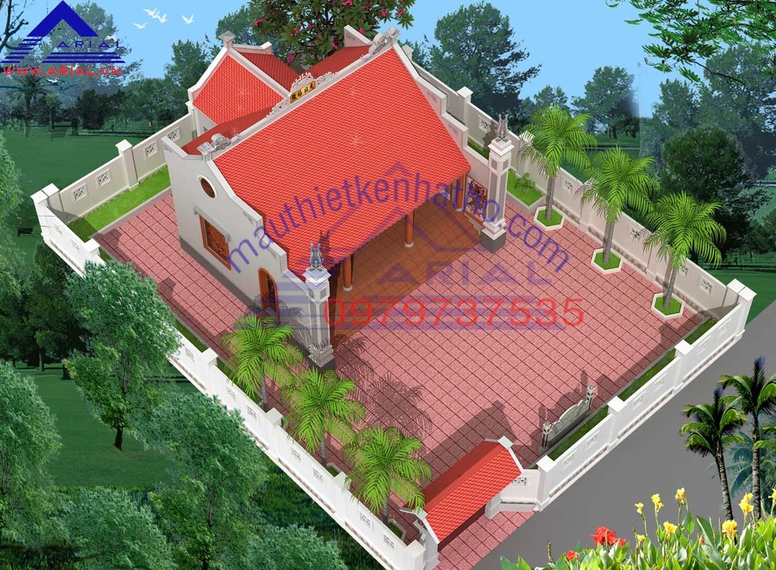8. Nhà thờ 3 gian 2 mái Hậu cung ở Ứng Hòa Hà Nội