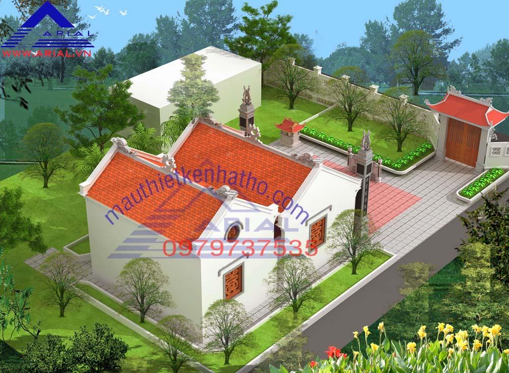 9. Nhà thờ 2 mái 2 cung cung sau Hậu cung ở Thái Bình