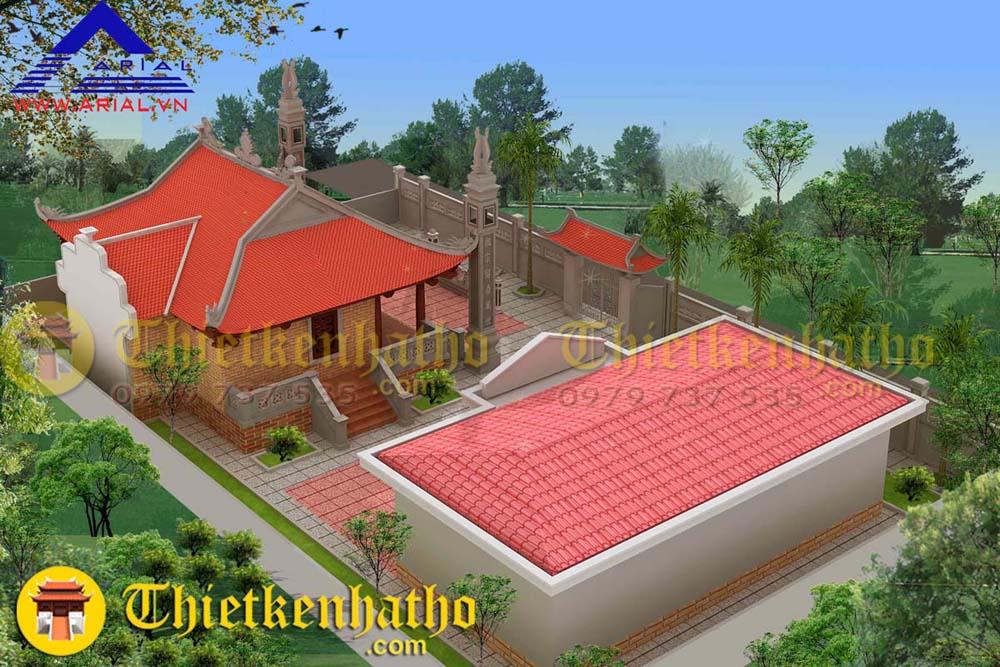 5. Nhà thờ 4 mái thờ Thành hoàng làng ở Thanh Hóa