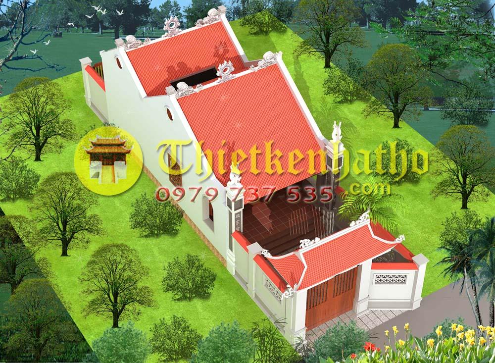 6. Nhà thờ 2 khối nhà  Tiền tế Hậu cung ở Hà Nam