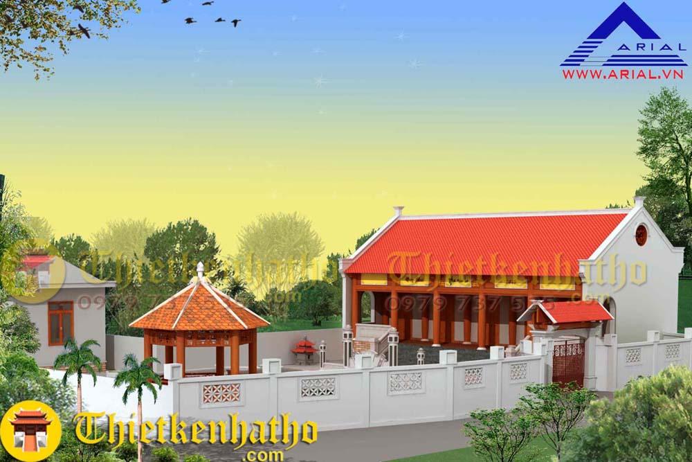 12. Nhà thờ 5 gian cđt anh Trung ở Thường Tín Hà Nội