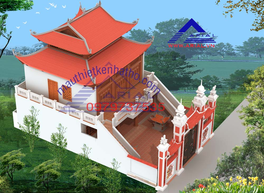 10. Điện thờ 8 mái 2 tầng ở Vĩnh Quỳnh, Thanh Trì Hà Nội