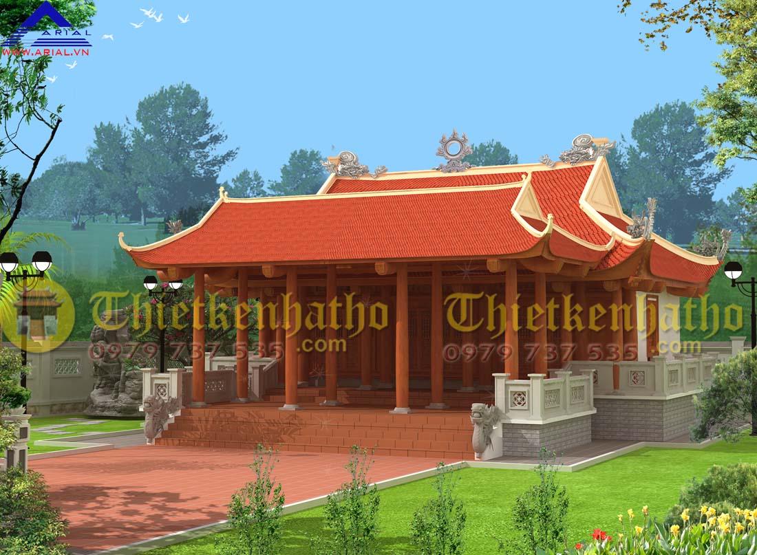 7. Nhà thờ 4 mái 2 cung Tiền tế Hậu cung ở Kỳ Hải Kỳ Anh Hà Tĩnh