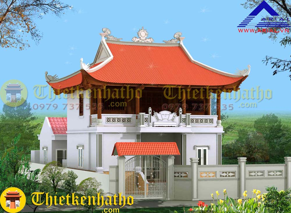 12. Nhà thờ 2 tầng 4 mái cđt a Hải ở Nam Trực Nam Định