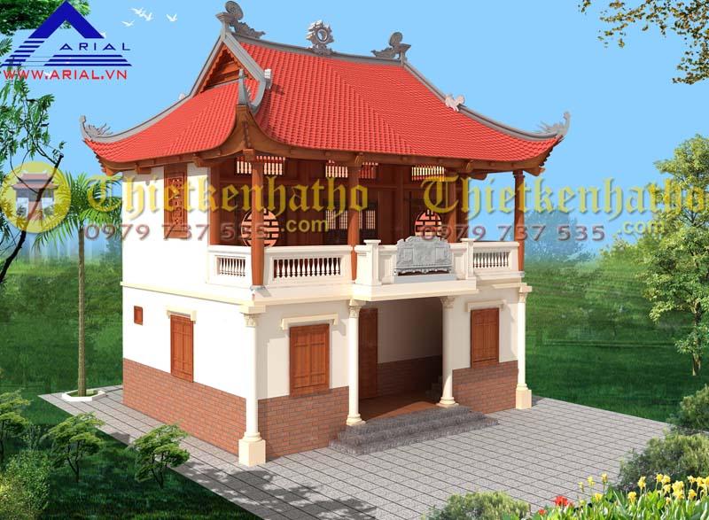 1. Nhà thờ 2 tầng 4 mái ở Bình Giang Hải Dương