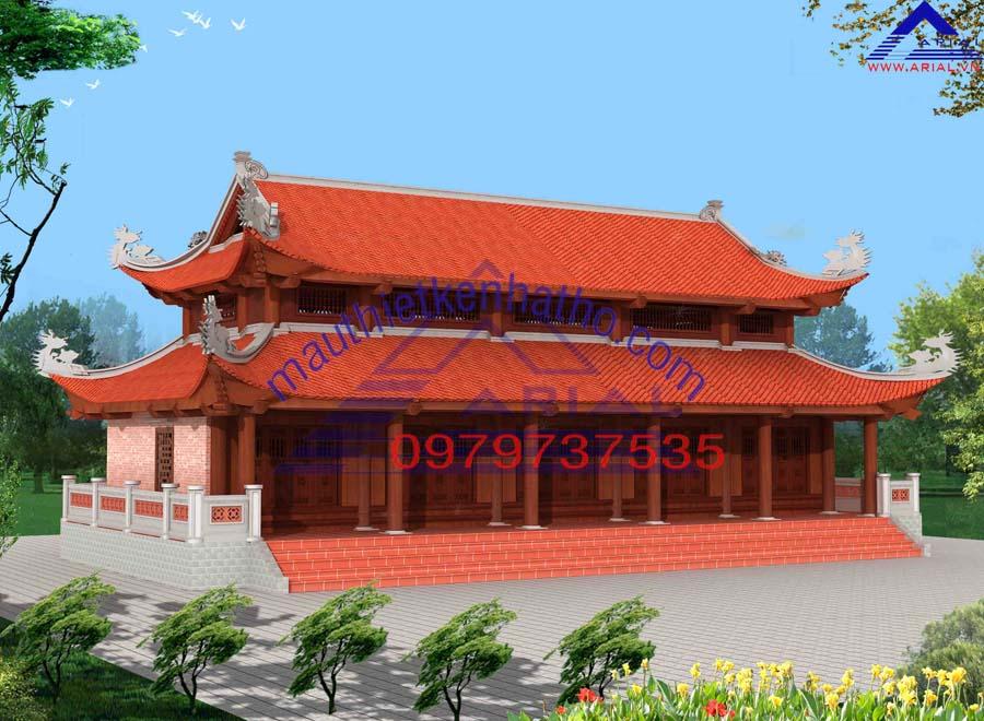 9. Nhà thờ 5 gian 8 mái ở Phú Xuyên Hà Nội