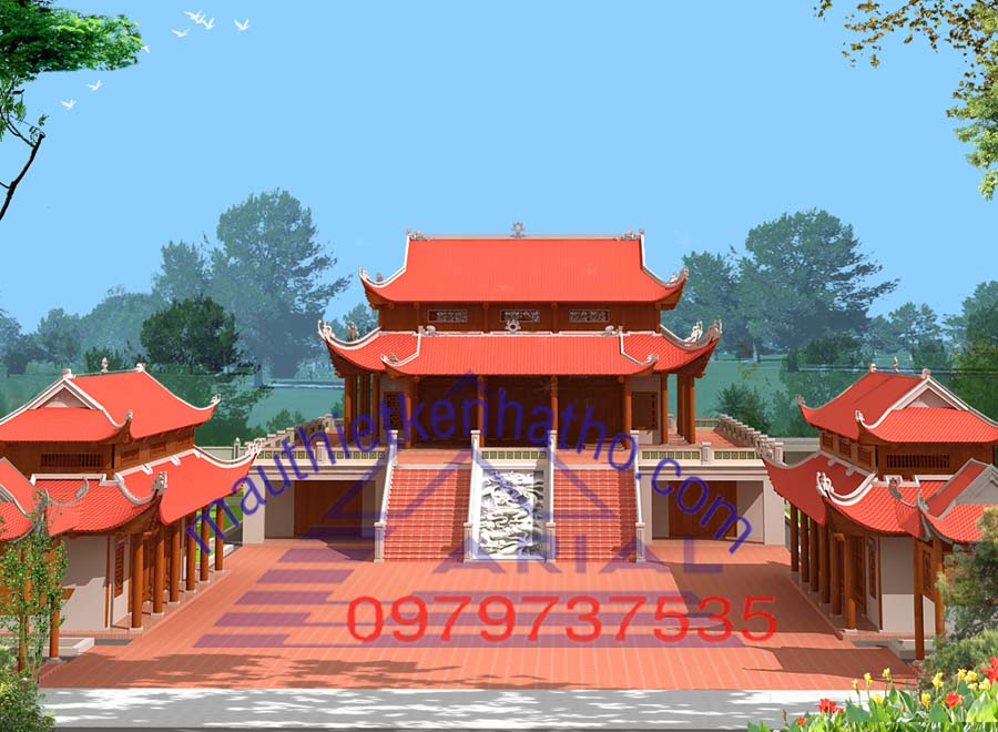 12. Nhà thờ 2 tầng 8 mái nhà thờ họ Nguyễn Việt Nam ở Thuận Thành Bắc Ninh