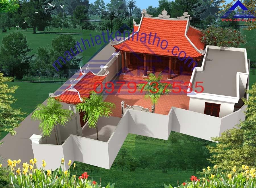 7. Nhà thờ 3 gian 4 mái ở Nga Sơn Thanh Hóa