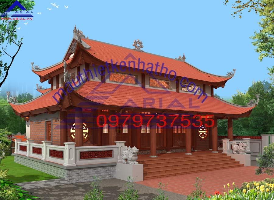 3. Nhà thờ 8 mái 5 gian Hậu cung chữ Đinh ở Lộc Hà Hà Tĩnh