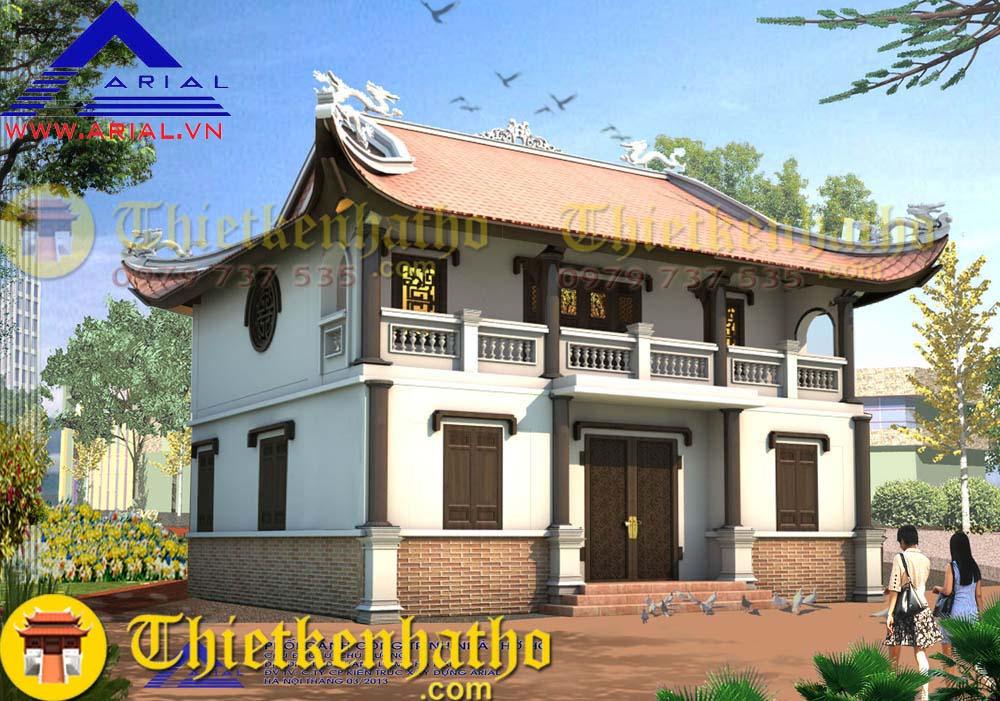 2. Nhà thờ 2 tầng 4 mái cđt chú Cường ở Thanh Liêm Hà Nam