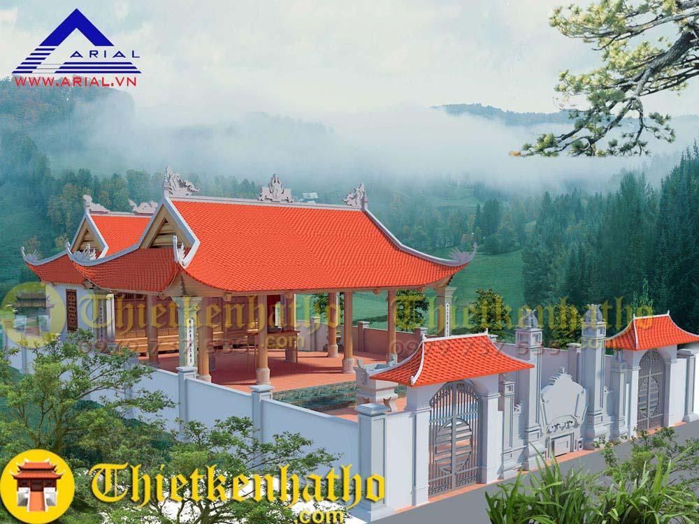 8. Nhà thờ 4 mái Tiền tế Hậu cung nhà thờ họ Nguyễn ở Nghệ An