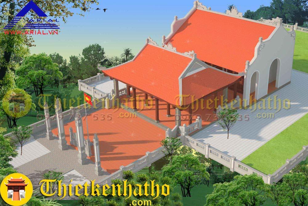 10. Nhà thờ 4 mái 2 cung nhà thờ họ Phan Hữu ở Nghệ An